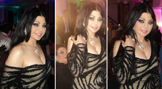 خاص بالصور: هيفاء وهبي سرقت الأنظار في حفل زفاف خاص يوم أمس