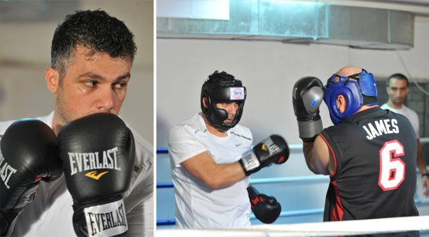 بالصور: فارس كرم يمارس رياضة الملاكمة