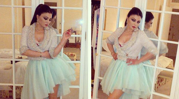 أولاً بالصور: هيفاء وهبي جاهزة لعرض شانيل وهذا هو الفستان الذي إرتدته