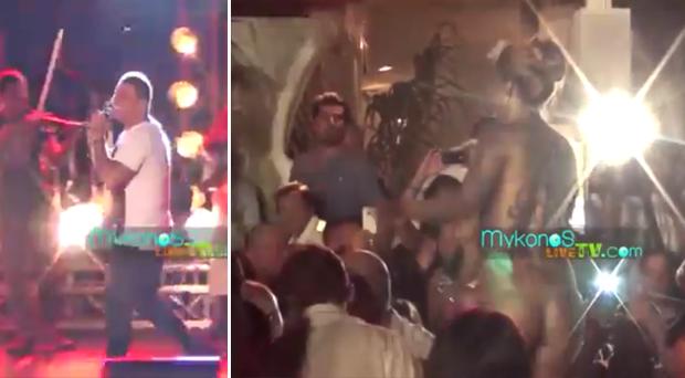 بالفيديو: عمرو دياب يغني في اليونان بحضور راقصات عاريات، وموجة غضب عارمة تصيب الجمهور المصري