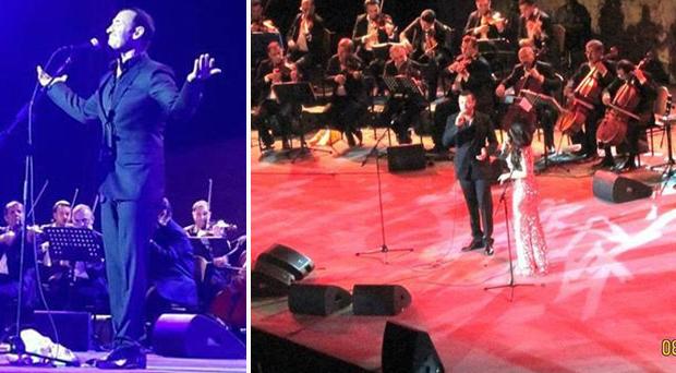 بالصور: قيصر الغناء العربي كاظم الساهر في حفل أسطوري وتاريخي في قرطاج