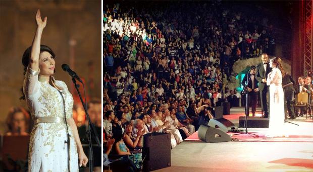 بالصور: مجد السلام، الرقي والغناء إجتمع على مسرح قرطاج بحضور فخامة ماجدة الرومي