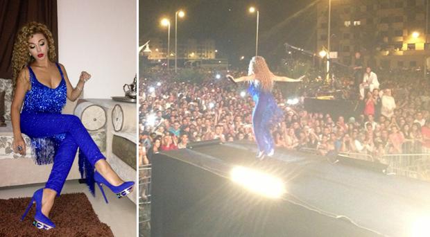 بالصور: الآلاف غنوا ورقصوا مع ميريام فارس في مهرجان المتوسطي للناظور