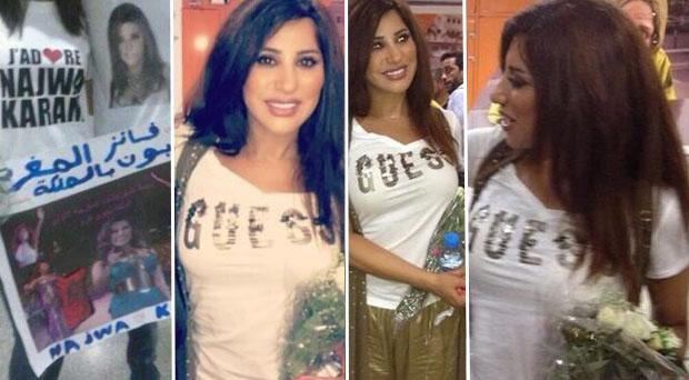 جماهير نجوى كرم تستقبلها في المغرب إستقبال الملكات وحشود غفيرة تستعد لحضور حفلها