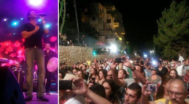 بالصور: الآلاف إستقبلوا عاصي الحلاني في ناباي ونادوا بإسمه نجم المهرجان المطلق