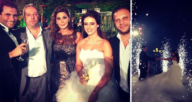 بالصور: إليسا حضرت حفل زفاف صديقيها وتمنّت لهما حياة سعيدة
