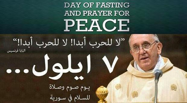النجوم ينشرون رسالة البابا ويهتفون: لا للحرب