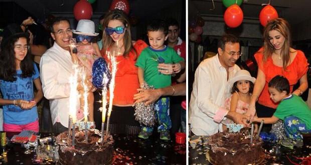 بالصور: نادر صعب يحتفل بعيد ميلاده مع زوجته أنابيلا وعائلته