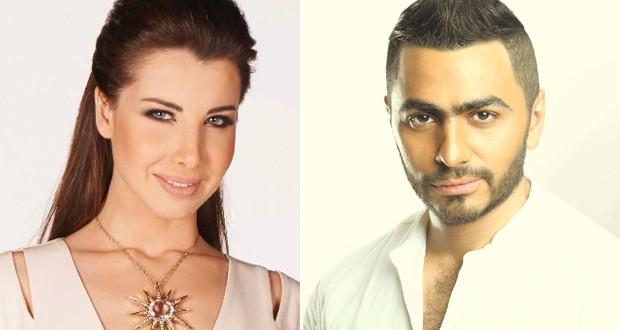 خاص: نانسي عجرم وتامر حسني معاً في أضخم حفل في القاهرة