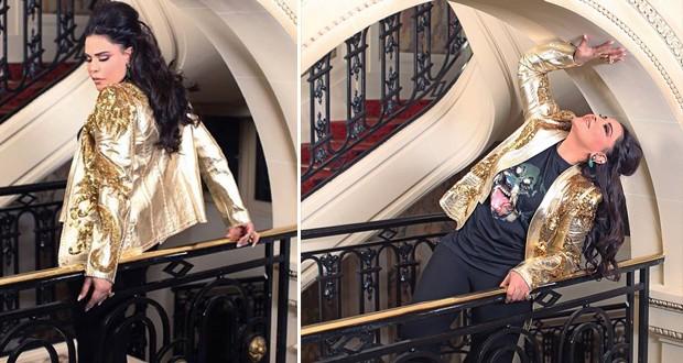 بالصور: أحلام في جلسة تصويرية جديدة ملكة تتوهج بالذهبي