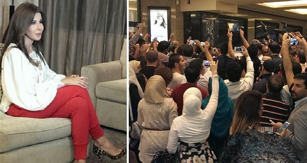 بالصور: نانسي عجرم خطفت الأنفاس بأناقتها في الـ World Of Fashion وحشد إعلامي وجماهيري إستقبلها في دبي
