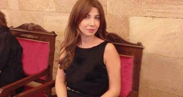 بالصورة: نانسي عجرم في عزاء عملاق الفن وديع الصافي