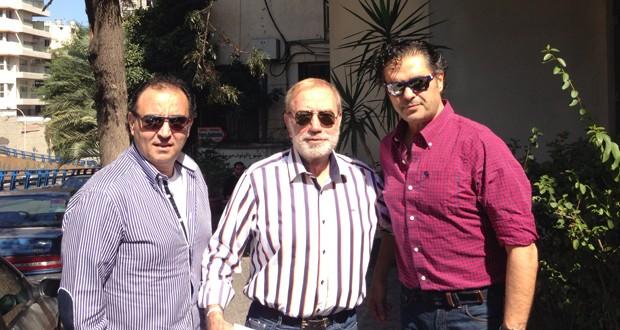بالصور: راغب علامة، فؤاد شرف ومحمد أنشاطي معاً في شوارع بيروت