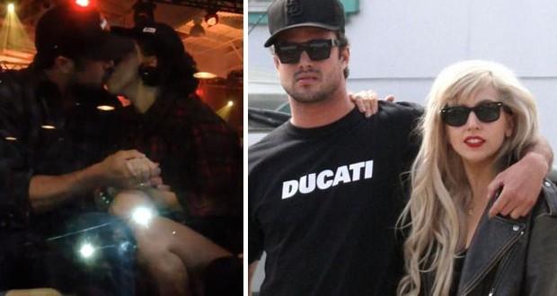 Lady Gaga تنفي خبر انفصالها عن حبيبها بقبلة