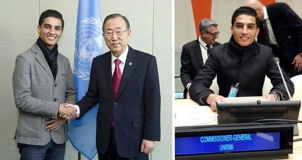 بالصور: سفير الأونروا للشباب محمد عساف في اليوم العالمي للتضامن مع الشعب الفلسطيني