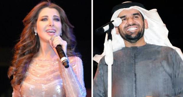 بالصور: نانسي عجرم وحسين الجسمي أشعلا المسرح بحضور رسمي وشعبي حاشد