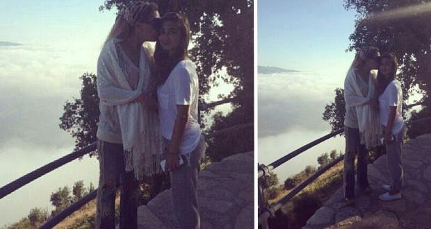 بالصورة: نوال الزغبي مع حبيبة قلبها تيا في زيارة للقديس شربل