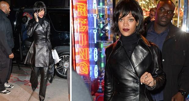 بالصور: Rihanna تخطف الأنظار وتثير بلبلة في أحد محلّات الوشوم