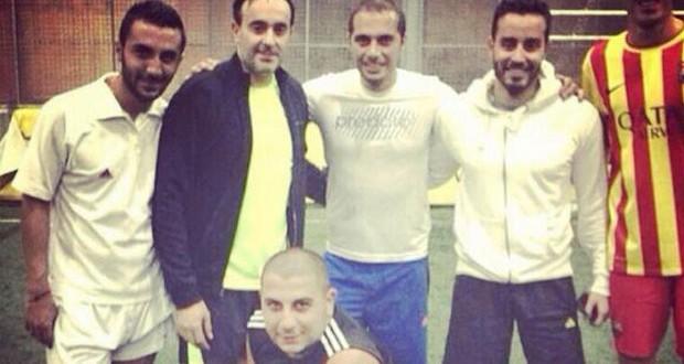 بالصورة: صابر الرباعي وسعد رمضان في مباراة كرة قدم حاسمة