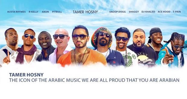 بالصورة: تامر حسني أيقونة الموسيقى العربية وفخر للعرب