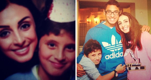 بالصور: أنغام إحتفلت بعيد ميلاد إبنها بحضور العائلة والأصدقاء