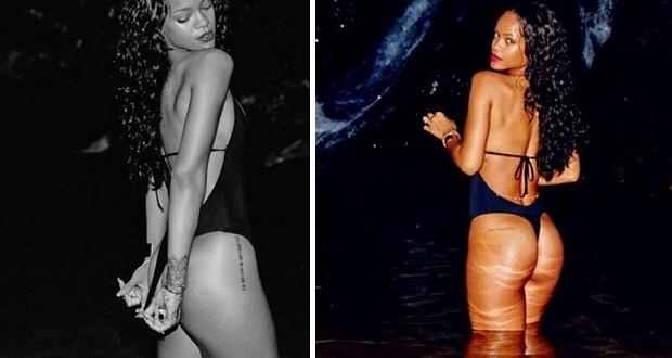 بالصور: Rihanna  بالبيكيني في إحدى بحيرات البرازيل