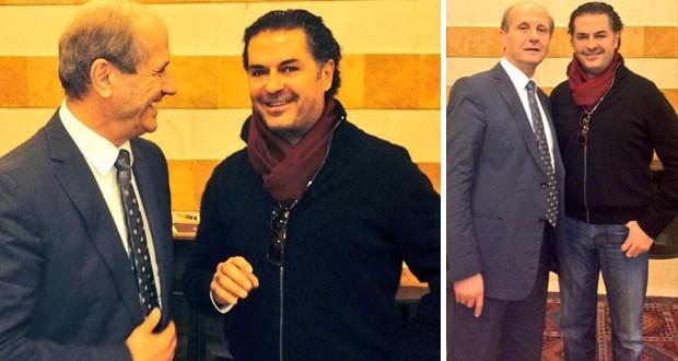 بالصور: السفير راغب علامة زار وزير الداخلية مروان شربل وهذا ما دار بينهما