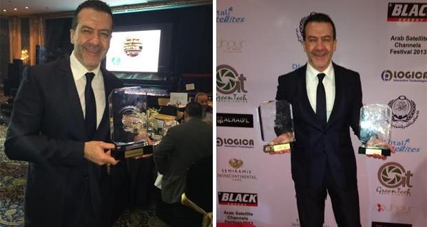 بالصور: طوني بارود يتسلّم جائزة أفضل إعلامي في القاهرة