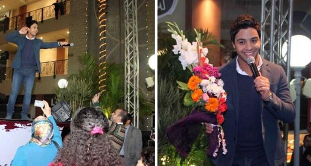 """بالصور: أحمد جمال أحيا حفل في التجمع الخامس ويطرح """"كلّ واحد فينا"""" في عيد الحب"""