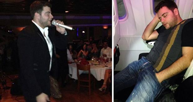 بالصور والفيديو: عامر زيان أحيا حفل ناجح في سان فرانسيسكو وسرقه النوم في الطائرة