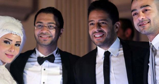 بالصور: محمد حماقي أحيا حفل زفاف المونتير أسامة فؤاد
