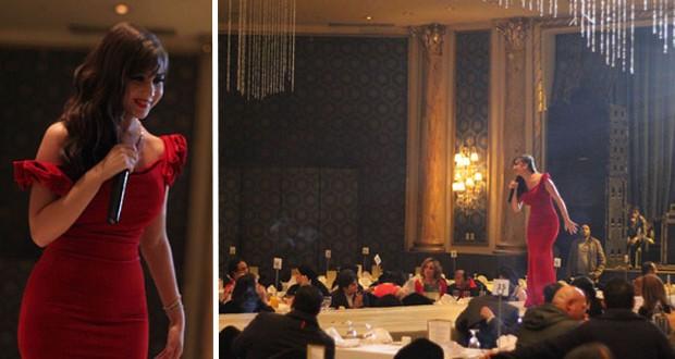 بالصور: جنات تألّقت بالأحمر في عيد الحب في القاهرة
