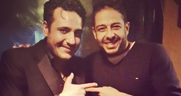 بالصورة: محمد حماقي مع محمد رحيم في الإستوديو ويعمل على الألبوم