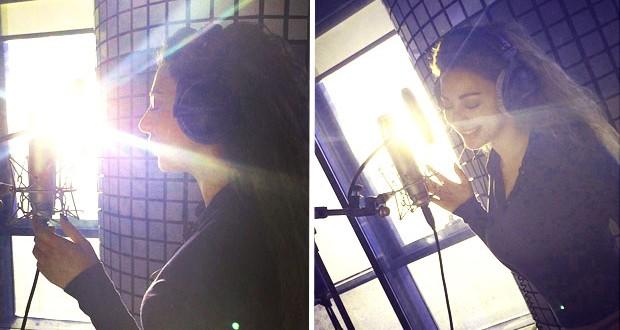 بالصور: ميريام فارس في الأستوديو تسجّل أغنية خليجية
