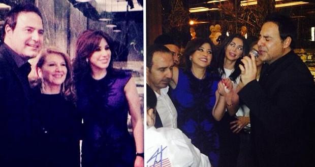 بالصور: نجوى كرم إحتفلت مع أصدقائها وتسطع عيداً في كل مكان