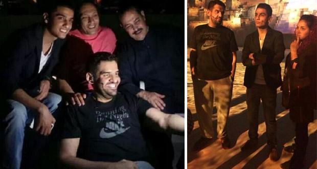 """بالصور: محمد عساف وحسين الجسمي في تدريبات """"عناقيد الضياء"""""""