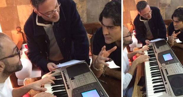 بالصورة: وائل كفوري يتابع العمل على ألبومه وجلسة مع منير بو عساف وهشام بولس