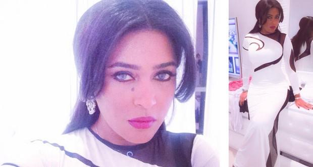 بالصور: وعد السعودية بفستان أبيض مثير