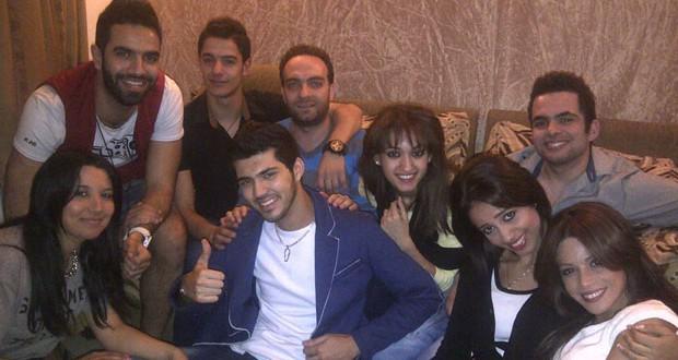 بالصور: زكي شريف يستقبل زملائه في ستار أكاديمي في لبنان