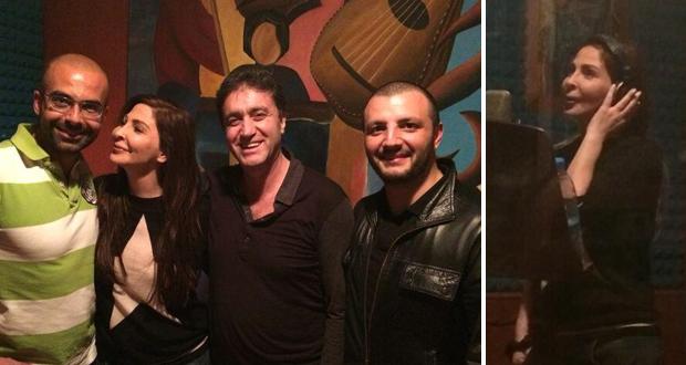 إليسا تسجل أغنيات ألبومها المنتظر ومع فريق عملها المحترف في الإستوديو