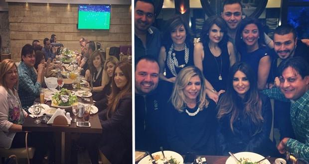 بالصور: شذى حصون إلتقت أهل الصحافة اللبنانية على العشاء في أرقى الجلسات