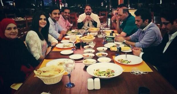 بالصور: رامي عياش على العشاء مع أحمد جمال وسلمى رشيد، وما هي المفاجأة التي يحضّرها؟