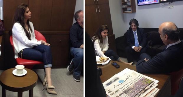 بالصور: إليسا زارت معراب والدكتور سمير جعجع لدعم ترشيحه لرئاسة الجمهورية