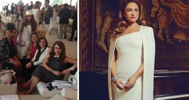 بالصورة: جوليا بطرس تسرق الأنظار في دبي بأناقتها وديما صادق تشيد بها