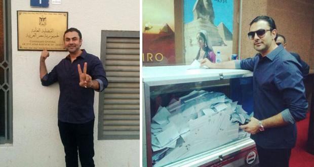 بالصور والفيديو: محمد كريم ينتخب المشير السيسي من دبي