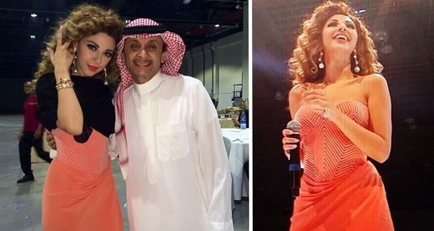 بالصور: ميريام فارس أحيت زفاف ضخم في دبي وإلتقت بـ عبد المجيد عبدالله