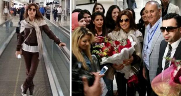 بالصور: نجوى كرم وصلت ديترويت والجاليات العربية إستقبلتها بالورود والحبّ في المطار