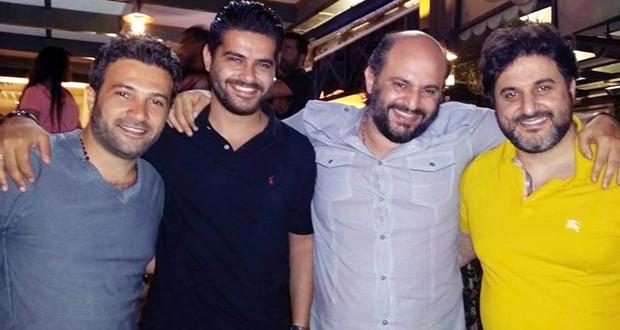 بالصورة: ناصيف زيتون، ملحم زين، باسم عساف والمايسترو فراس هزيم في جلسة خاصة