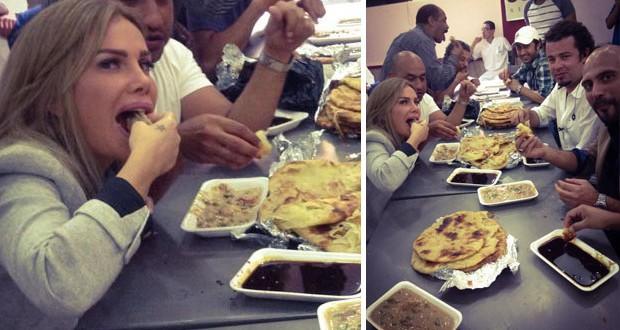"""بالصورة: نيكول سابا تناولت فِطير مِشَلتِتْ وعسل أسود في كواليس """"فرق توقيت"""""""