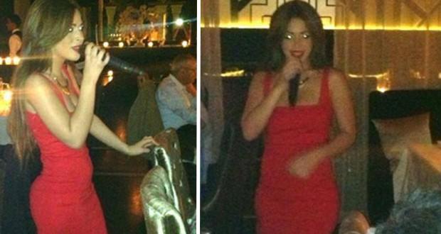 بالصور: سكينة بقريس ألهبت المدينة الحمراء بفستان أحمر أنيق